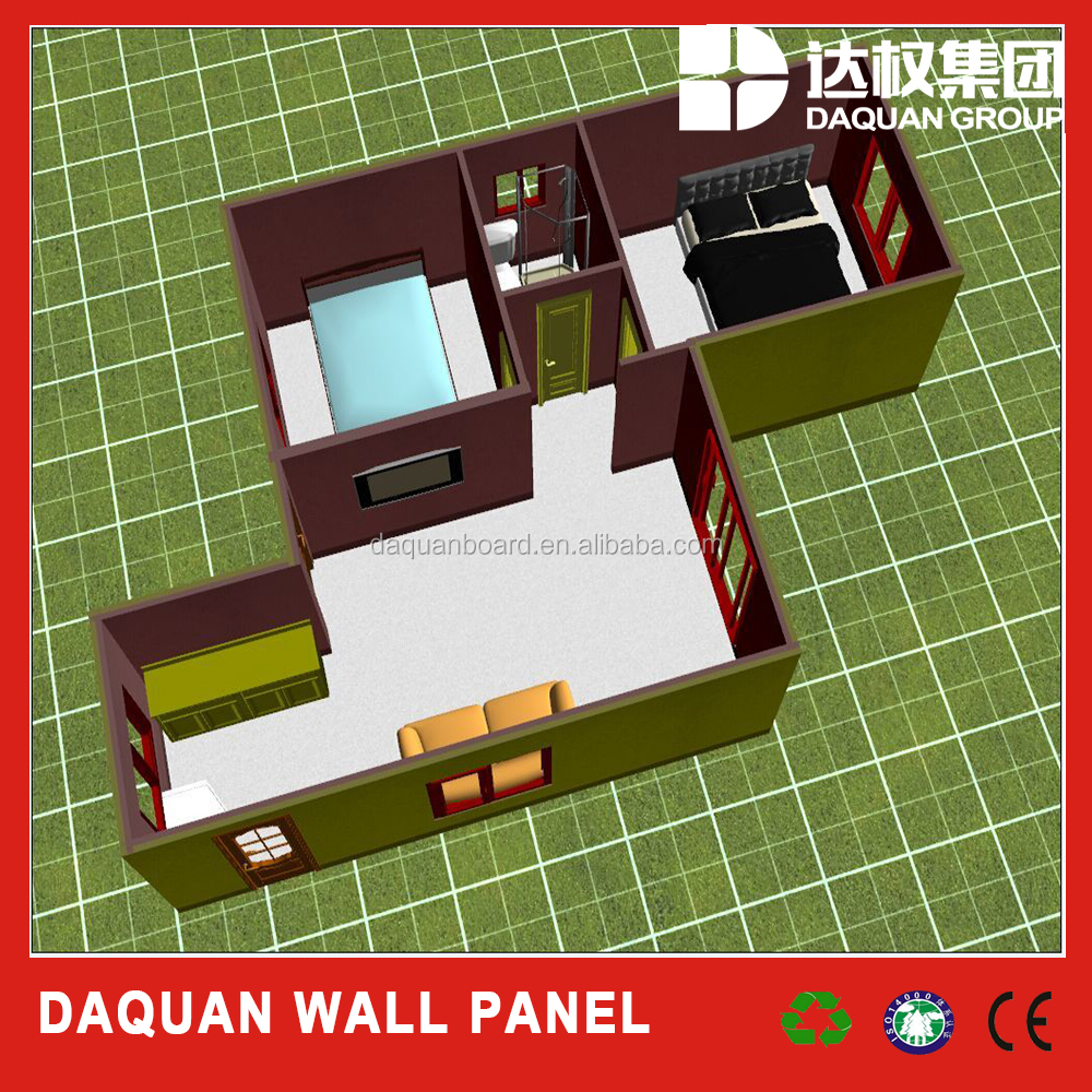 2016 wuhan daquan sunny house design with steel frame and french windows