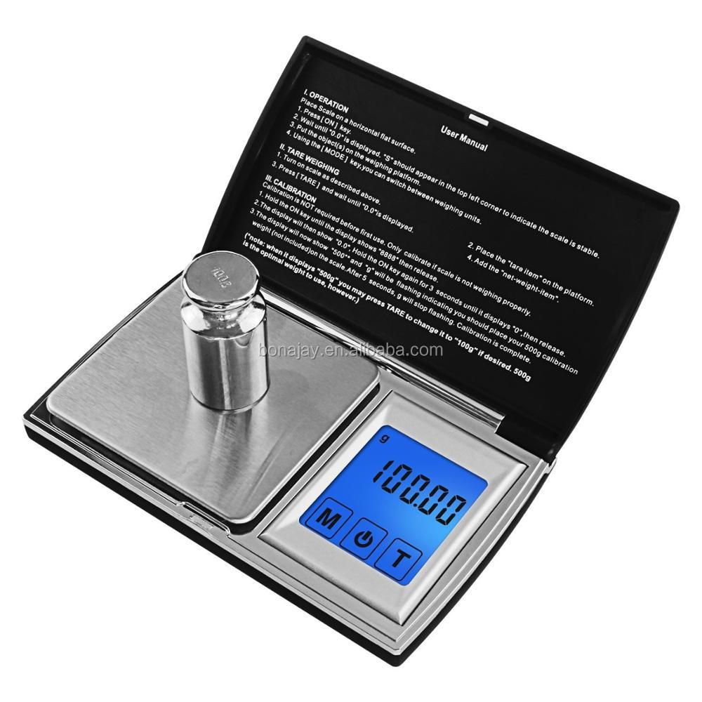 "touch screen 2"" lcd pocket digital jewelry scale 500g/0.01"