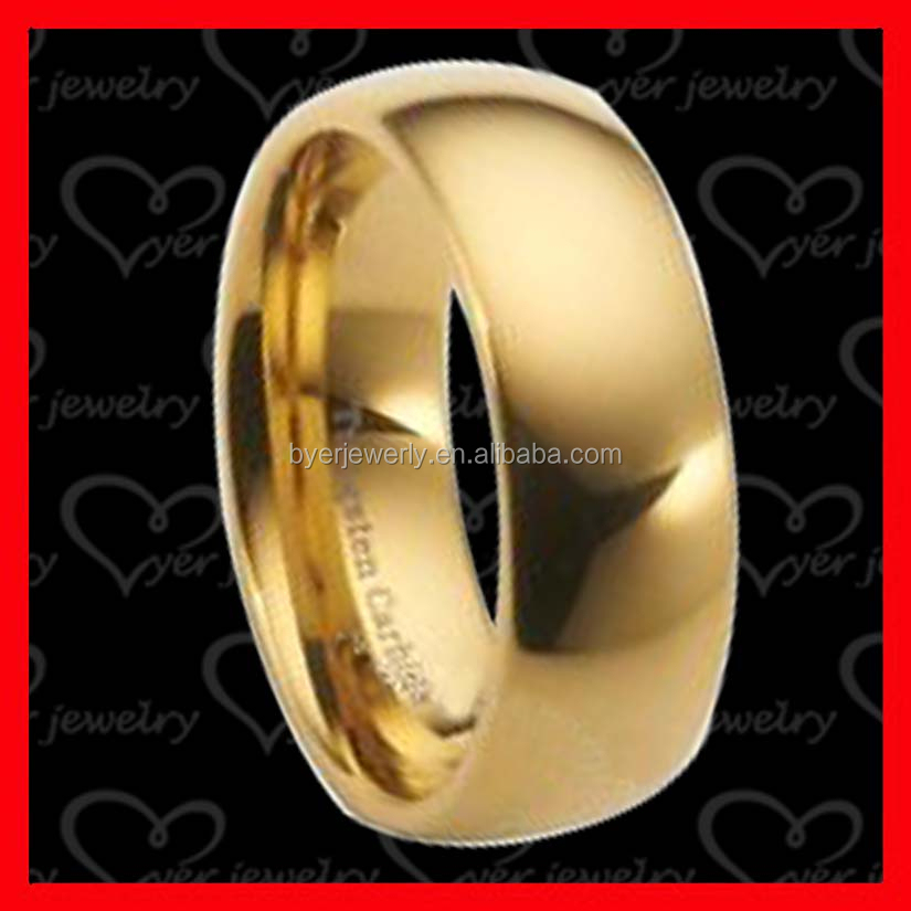 classic men stainless steel ring gold color design jewelry