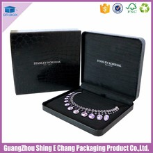 Best popular Black leather necklace jewelry gift box with new style ring gift packaging