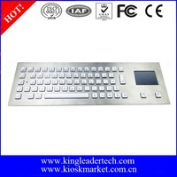 Rugged stainless steel blacklist metal keyboard with touchpad