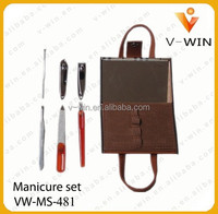 Brown Hand Bag Professional Manicure Set, Nail care set, Manicure Kit