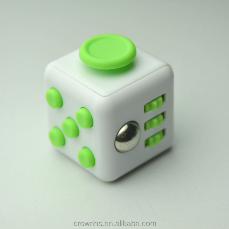 Mini Fidget Cube Toy Vinyl Desk Finger Toys Squeeze Fun Stress Reliever 3.3cm High Quality Antistress Cube
