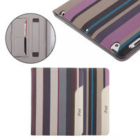 For iPAD 2/3/4,high quality stripe ultra case for ipad 2/3/4