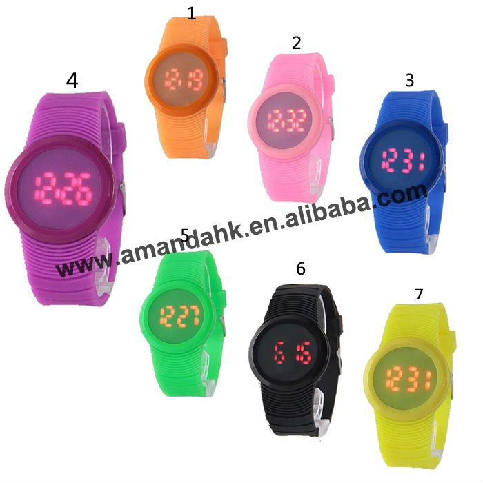 Hottest OEM Watch Color Watch Popular Watch 7colors For Option,Good Qualiy And Good Service
