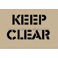 Keep Area Clear Floor Stencils