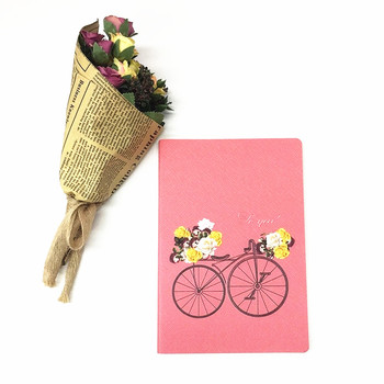 Personalized Printing A5 Pink Leather Cover Agenda Notebook For Girls