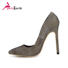 Latest Hot Sale leather Ladies High Heel Shoe Jobs Pointed Toe Shoes made in spain women nude shoes high heels