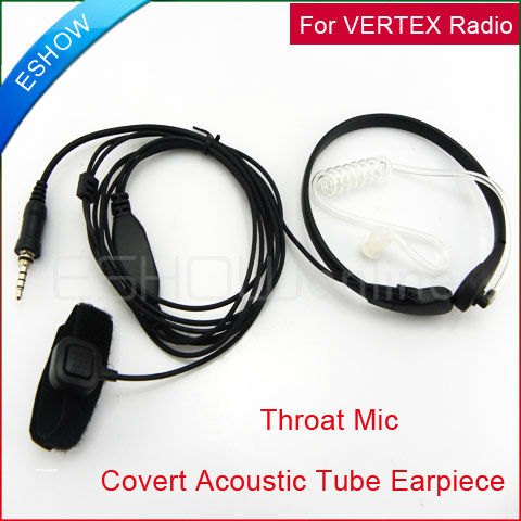 Throat Mic Air Tube Headset for YAESU/VERTEX 6R/7R/246