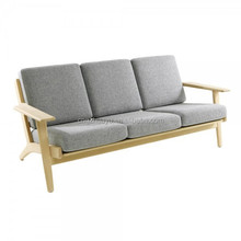 Mid century Plank wood sofa set