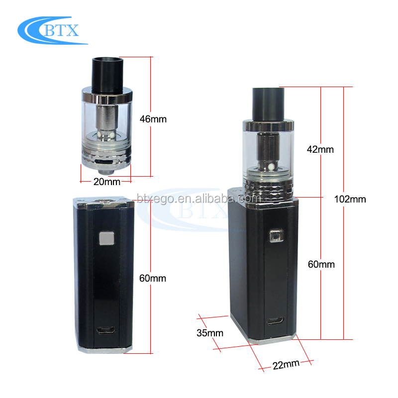 2017 New arrival Electronic Cigarette 45W Box Mod 2.5ml atomizer Wholesale Vape Pen