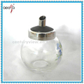 ball shape oil and vinegar bottle with metal mouth