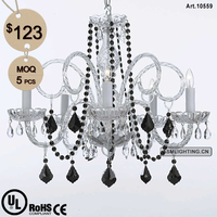 5 Light Crystal Chandelier Glass Cover for Interior Decoration