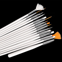 hot selling 15 pcs Professional wooden nail art brush
