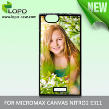 sublimation plastic phone cases with blank aluminum sheet for custom printing for Micromax Canvas Netro 2 E311