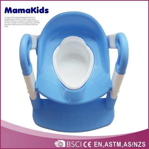 Safety kids toilet seat potty with ladder plastic baby potty chair