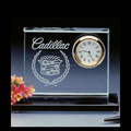 Optic Blank Crystal Clock for Wedding Souvenir Gifts for Guests