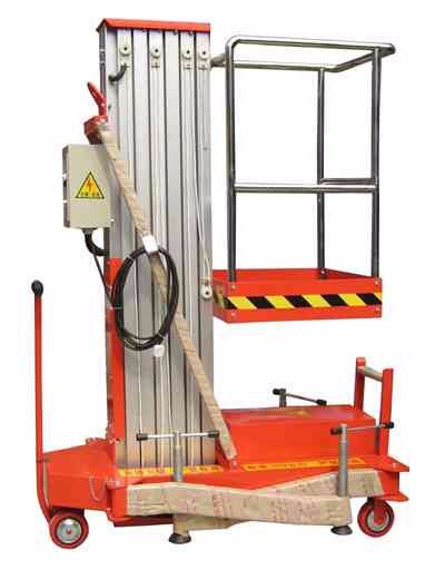 Portable single mast aluminum alloy lift platform one person lift