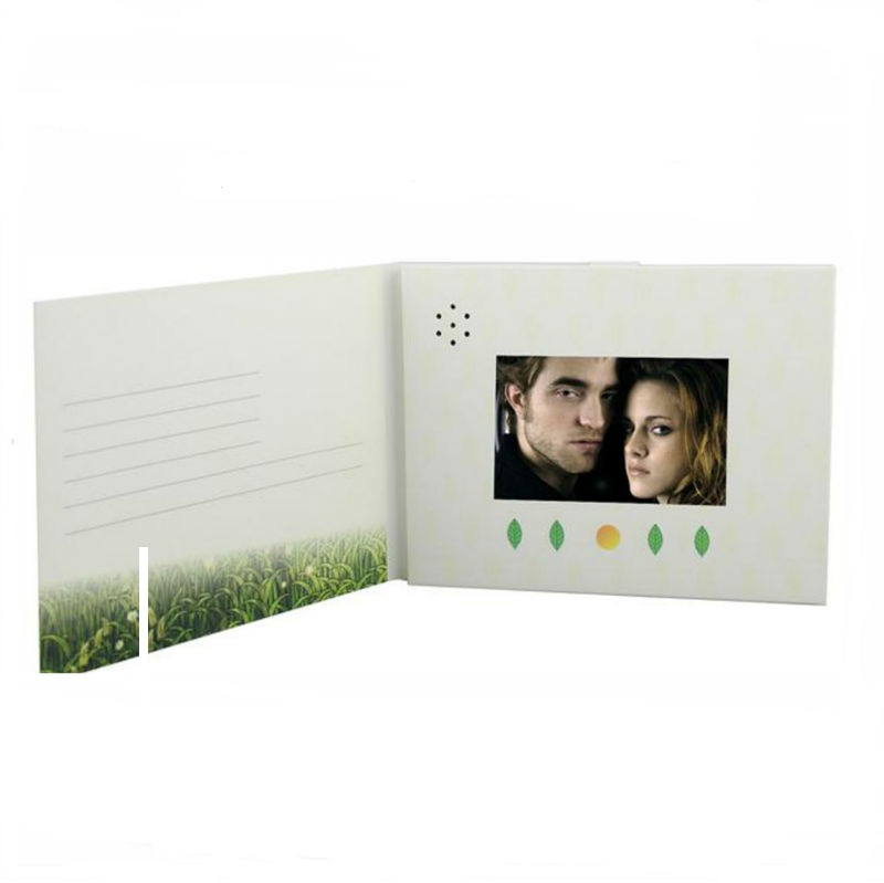 Customize smart digital lcd video card for weeding invitation