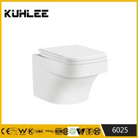 KL-6025 Ceramic humen toilet without cistern wc toilet prices