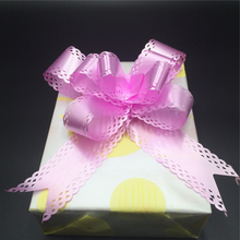 18mm gift wrapping plastic pull string ribbon bow