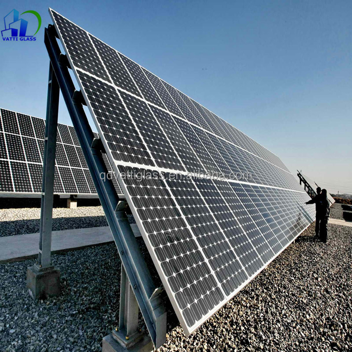 Toughened glass for solar panel, double glass solar panel, solar panel cover glass thickness
