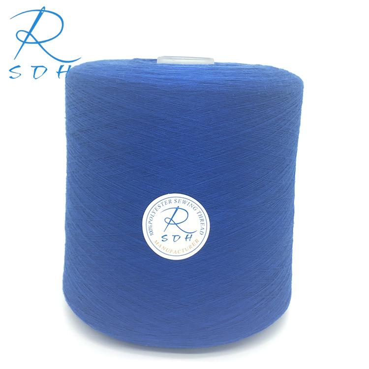 Ne 40/2 100% polyester ring spun dyed tube spun yarn for sewing