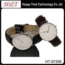 Stainless Steel 36mm Slim Leather Strap Gift Watches