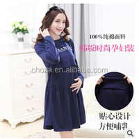 C63272A 2015 high quality autumn design Maternity dress Nursing Wear for women