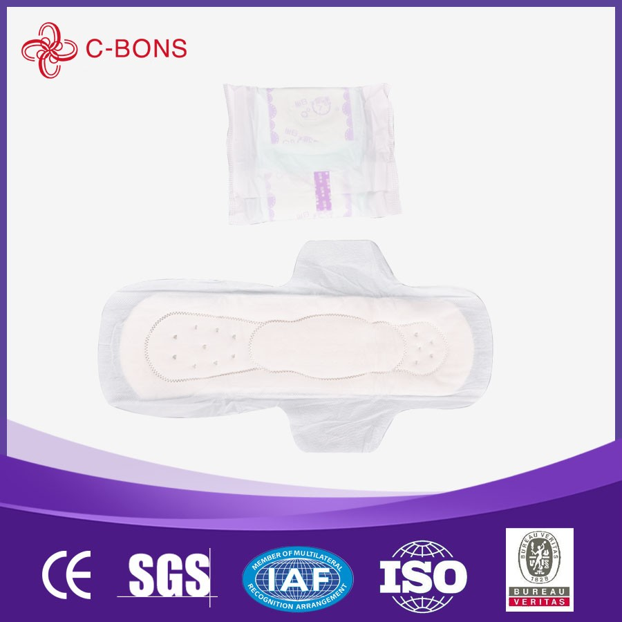 disposable super absorbent feminine looped sanitary towels