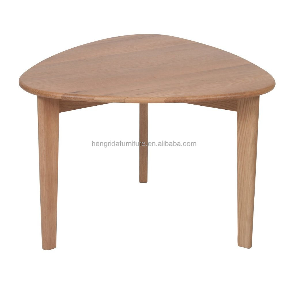 scandinavian solid oak wood coffee table