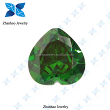 faceted machine cut synthetic big heart cut Cubic Zirconia Stone gemstone for sale