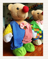 Red Nose Teddy Bear/New Design Cute Plush Baby Stand Bear Wholesale Stuffed Toys