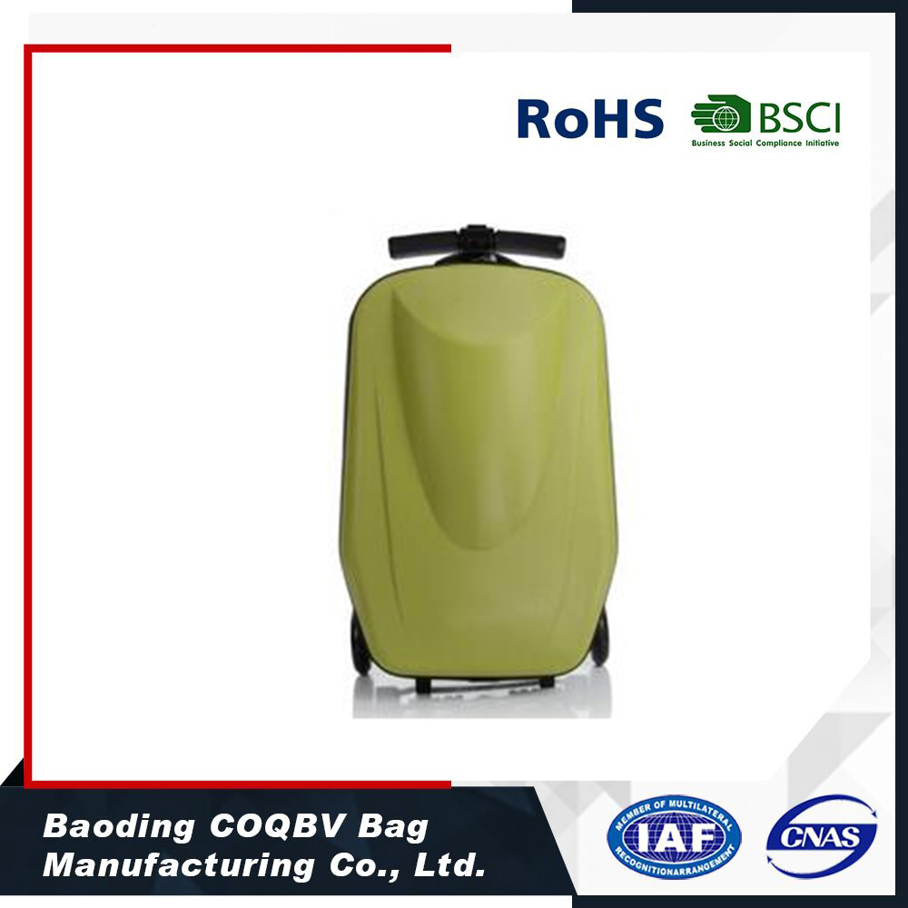 COQBV PC trolley luggage high quality PC suitcase scooter