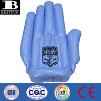 eco-friendly vinyl promotional custom made inflatable cheer hand durable PVC giant blow up big hulk hands