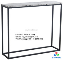 Wood metal side table faux marble console tables wholesale