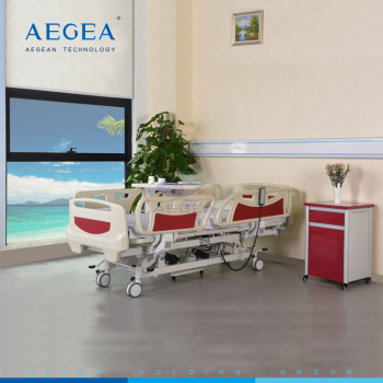 AG-BY003C with 4-part detachable ABS bed boards ICU adjustable hospital bed