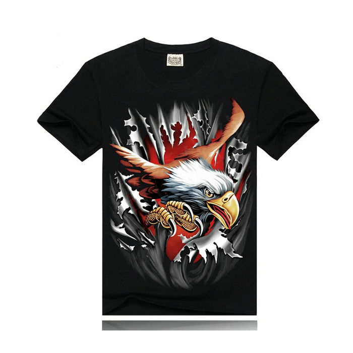 2016 summer men graphic tshirt,men eagle 3d printed t <strong>shirt</strong>