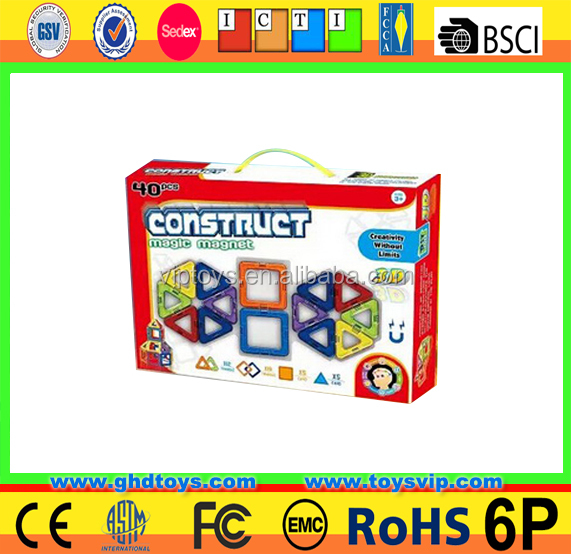 educational magnetic toys block Super quality magnetic building blocks plastic building connector toys for kids