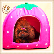 fashion dog princess pink beds chinese products cheap Strawberry pet nest sleeping for dogs products