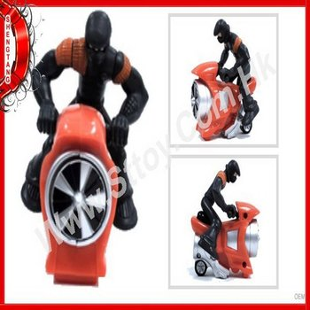 Figure Riding On Motor