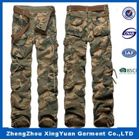 2016 Hot Sale Fashionable Outdoor Casual Camouflage Men's Military Style Cargo Pants With Many Pockets