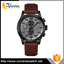 Alibaba Wholesale Ultra Slim Quartz Wrist Watches Mechanical Leather Strap Watch