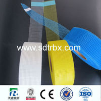 fiberglass mesh tape for cement gypsum board/great tensile strength adhesive alkali fiberglass mesh tape trade assurance