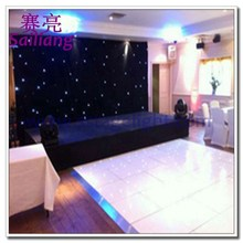 RGB Color Stage Effect DMX led star drop curtain