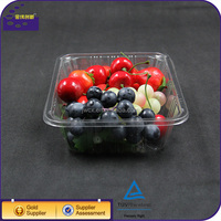 Wholesale Food Grade PET Vacuum Formed Plastic Tray Rectangular For Fruit And Vegetable