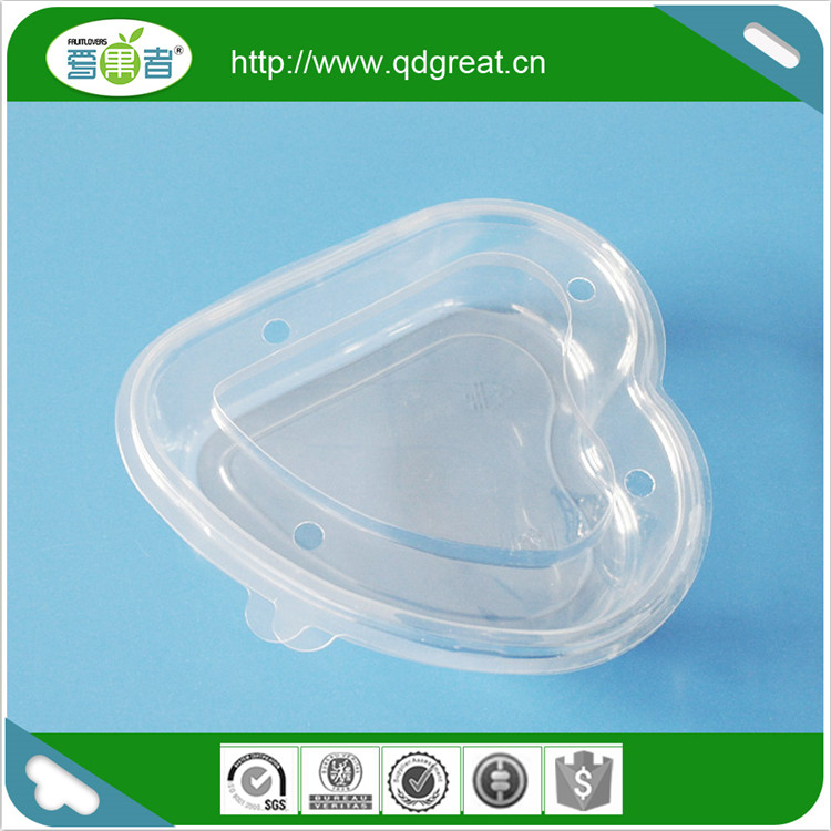 Plastic Disposable Fruit Salad Box Packaging