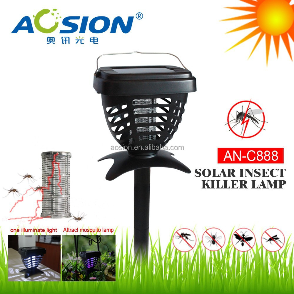 Portable rechargeable solar poewer uv lamp mosquito killer