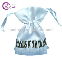 2013 high quality satin favor gift drawstring bag