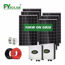 10KW grid tied solar power system on grid solar panel generator without batteries